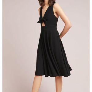 Hutch Anthropologie keyhole black dress XS